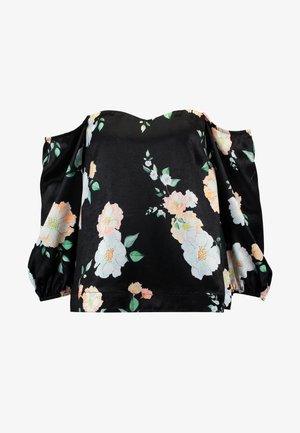 CLOVER OFF SHOULDER TOP - Blůza - black camellia