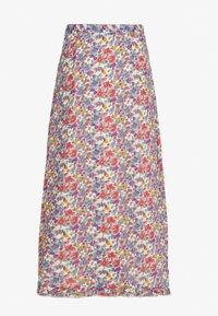 Wednesday's Girl - BUTTON FRONT RUFFLE HEM MIDAXI SKIRT - A-line skjørt - multi-coloured - 1