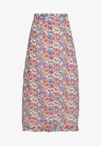 Wednesday's Girl - BUTTON FRONT RUFFLE HEM MIDAXI SKIRT - A-line skjørt - multi-coloured - 0