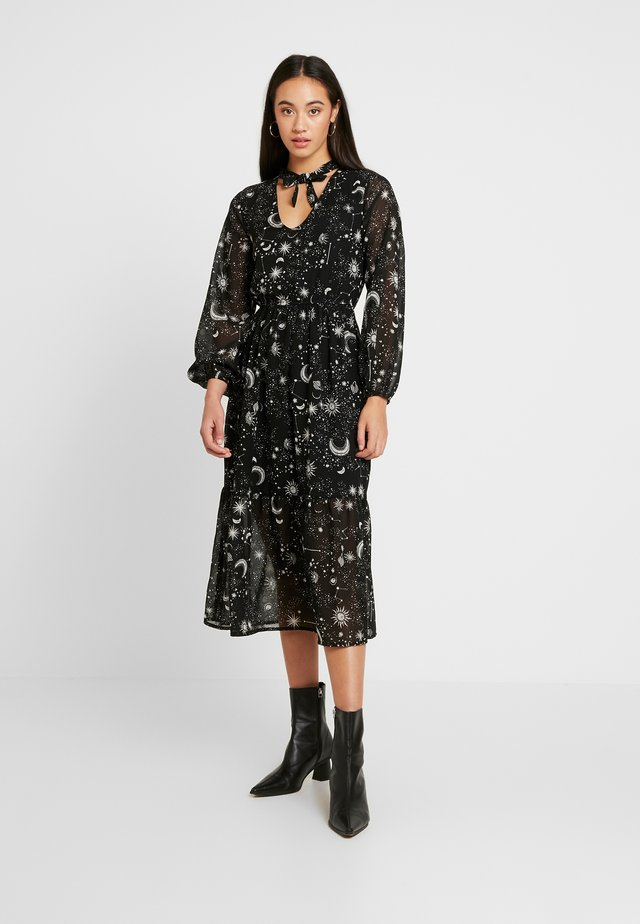 TIE NECK MIDAXI DRESS - Day dress - galaxy