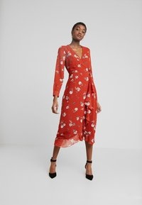 Wednesday's Girl - WRAP MIDAXI - Vestito estivo - delphine floral rust - 0