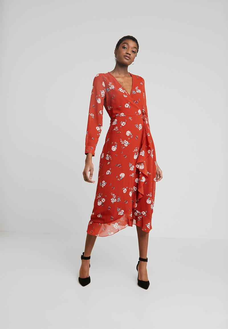 Wednesday's Girl - WRAP MIDAXI - Vestito estivo - delphine floral rust