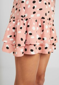Wednesday's Girl - RUFFLE HEM MINI TEA DRESS - Vestito estivo - pink - 6