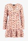 RUFFLE HEM MINI TEA DRESS - Vestito estivo - pink