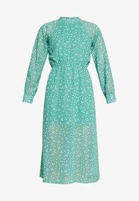 Wednesday's Girl - HIGH NECK ELASTICATED WAIST RAGLAN SLEEVE DRESS - Day dress - de-ja-vu green - 4