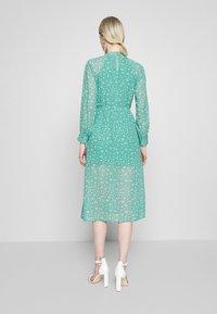 Wednesday's Girl - HIGH NECK ELASTICATED WAIST RAGLAN SLEEVE DRESS - Day dress - de-ja-vu green - 2