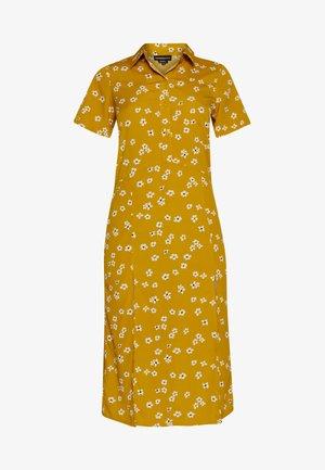 DROP SHOULDER BALLOON SLEEVE MINI DRESS - Košilové šaty - beige