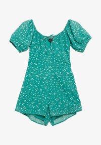 Wednesday's Girl - PEASANT NECKLINE PUFF SLEEVE PLAYSUIT - Jumpsuit - dejavu green - 0