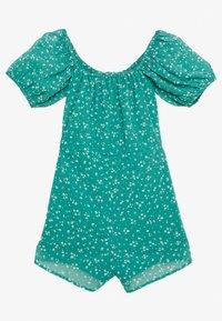 Wednesday's Girl - PEASANT NECKLINE PUFF SLEEVE PLAYSUIT - Jumpsuit - dejavu green - 1