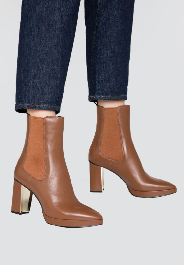 What For - CAMILLA - High heeled ankle boots - dark brown