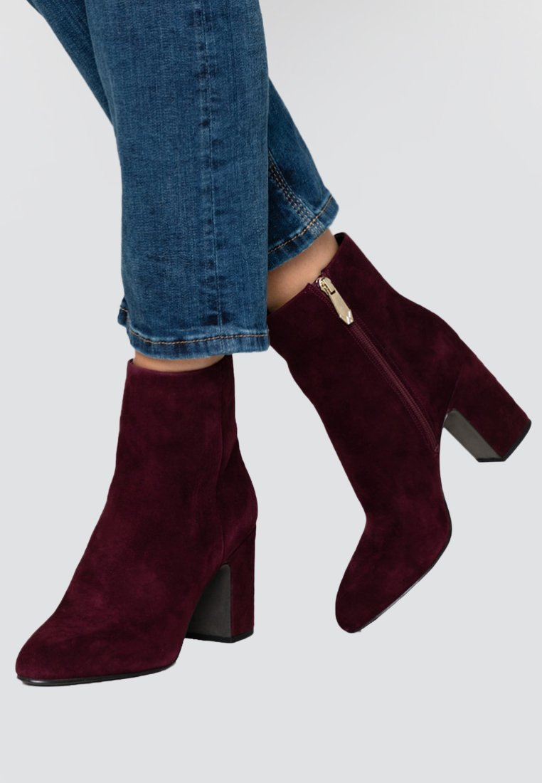 What For - MIALA - High heeled ankle boots - dark purpl