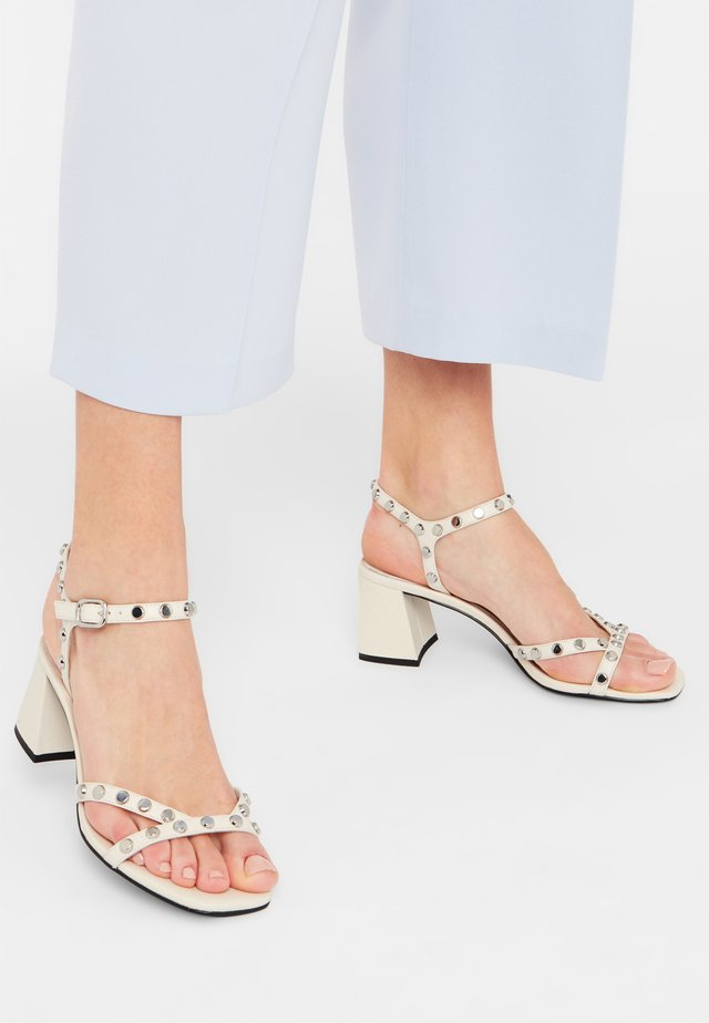 COLE - Ankle cuff sandals - white