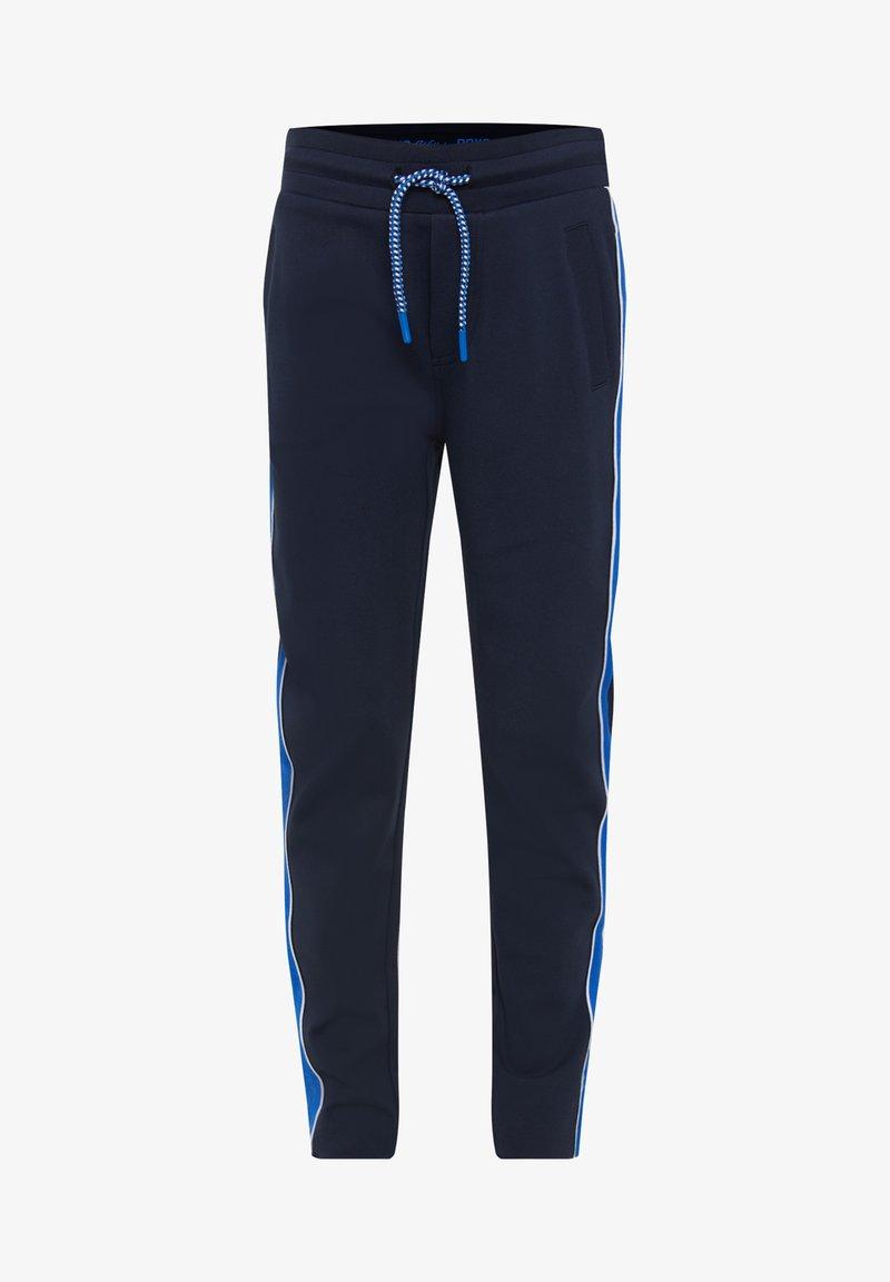 WE Fashion - MET TAPEDETAIL - Pantalones deportivos - dark blue