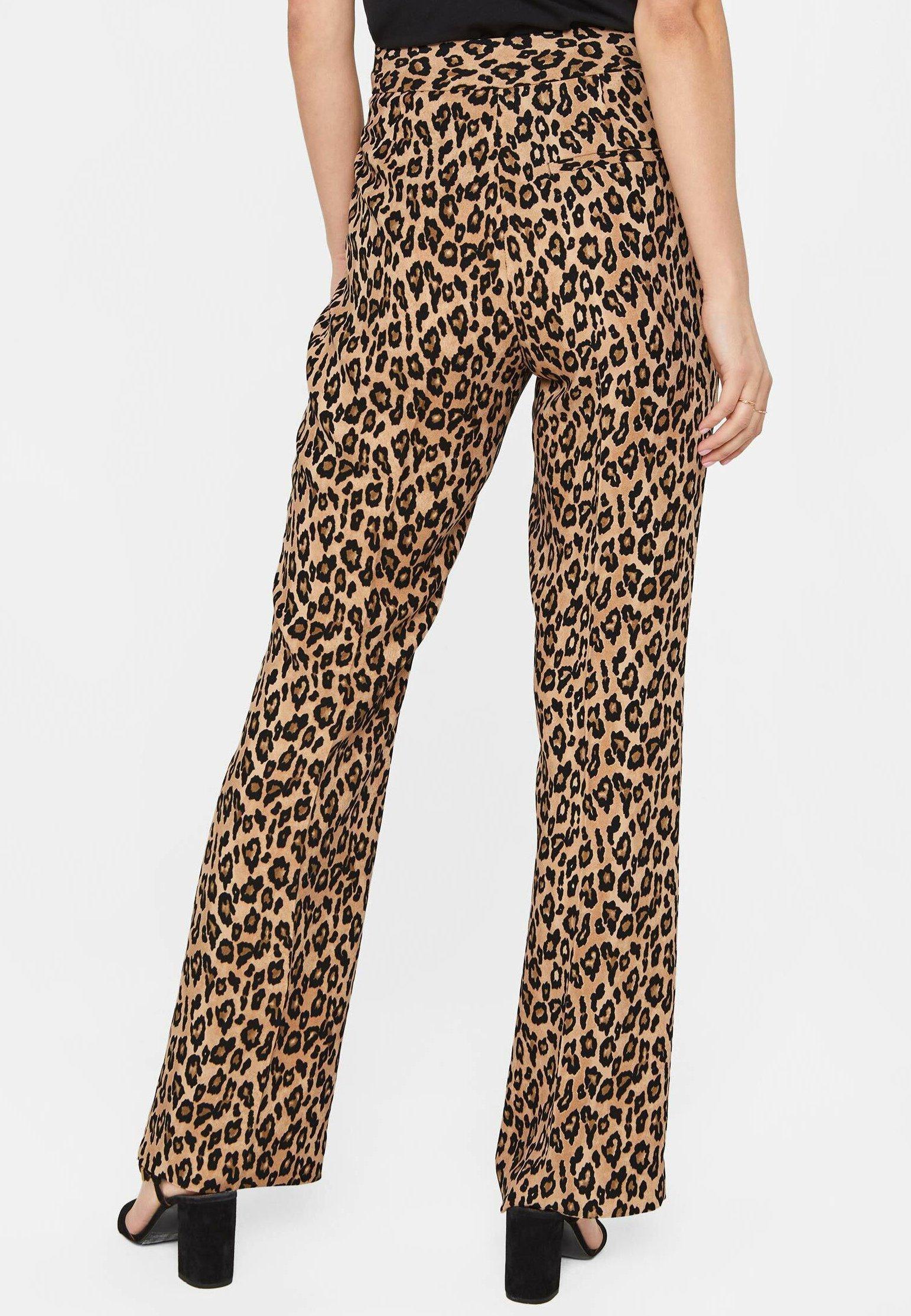 We Fashion Mit Leopardenmuster - Bukser Brown