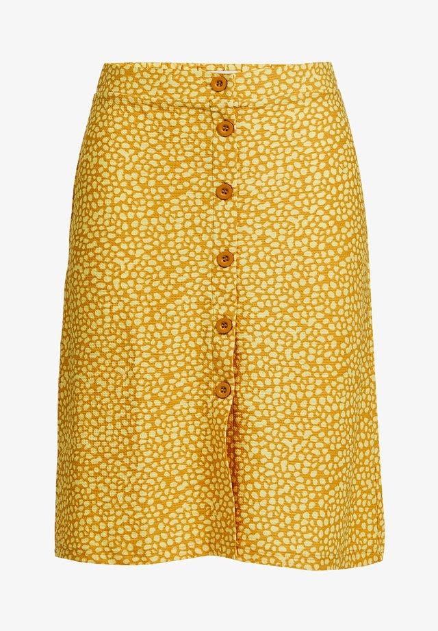 A-line skirt - mustard yellow