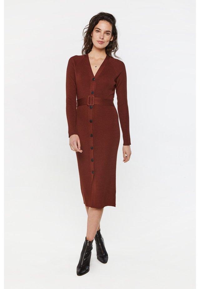 Gebreide jurk - vintage red