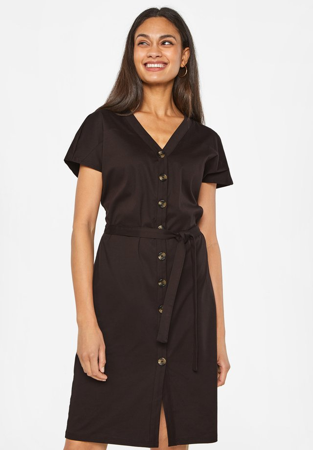 Vestido camisero - dark brown