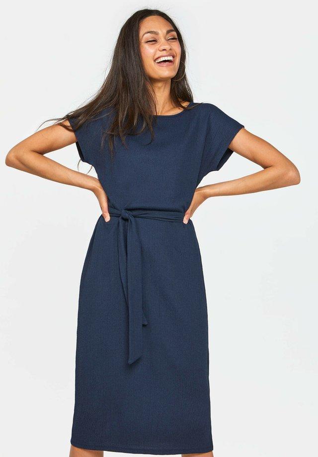 MET FIJNE STRUCTUUR - Sukienka letnia - dark blue