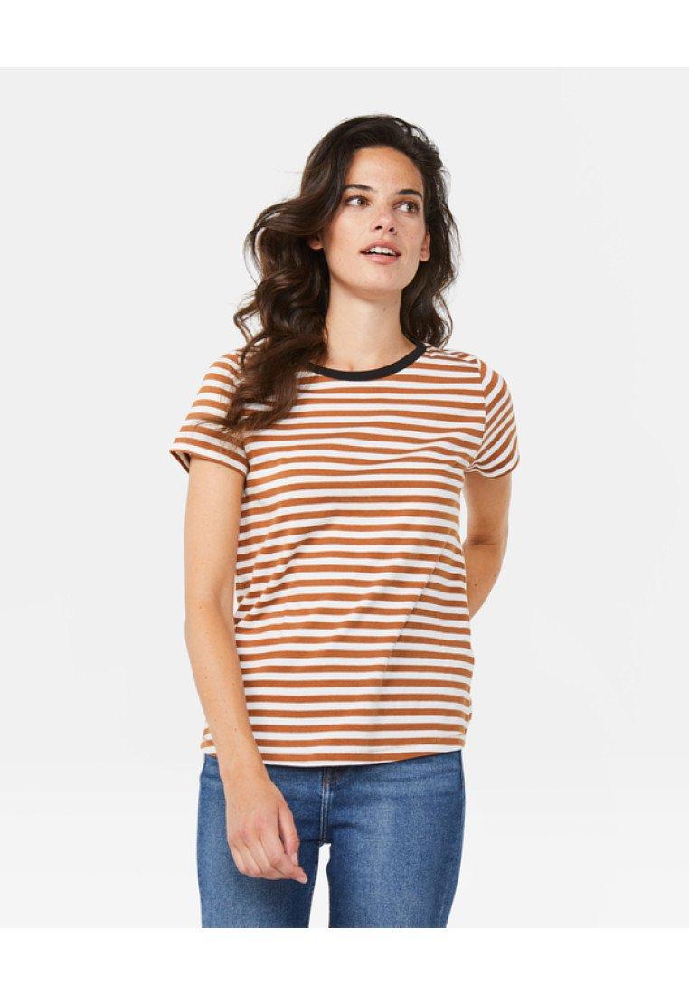 WE Fashion - Print T-shirt - cinnamon brown