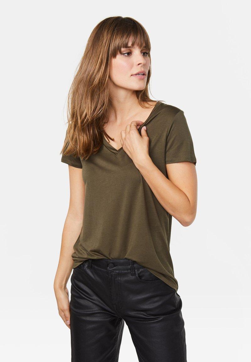 WE Fashion - Basic T-shirt - green