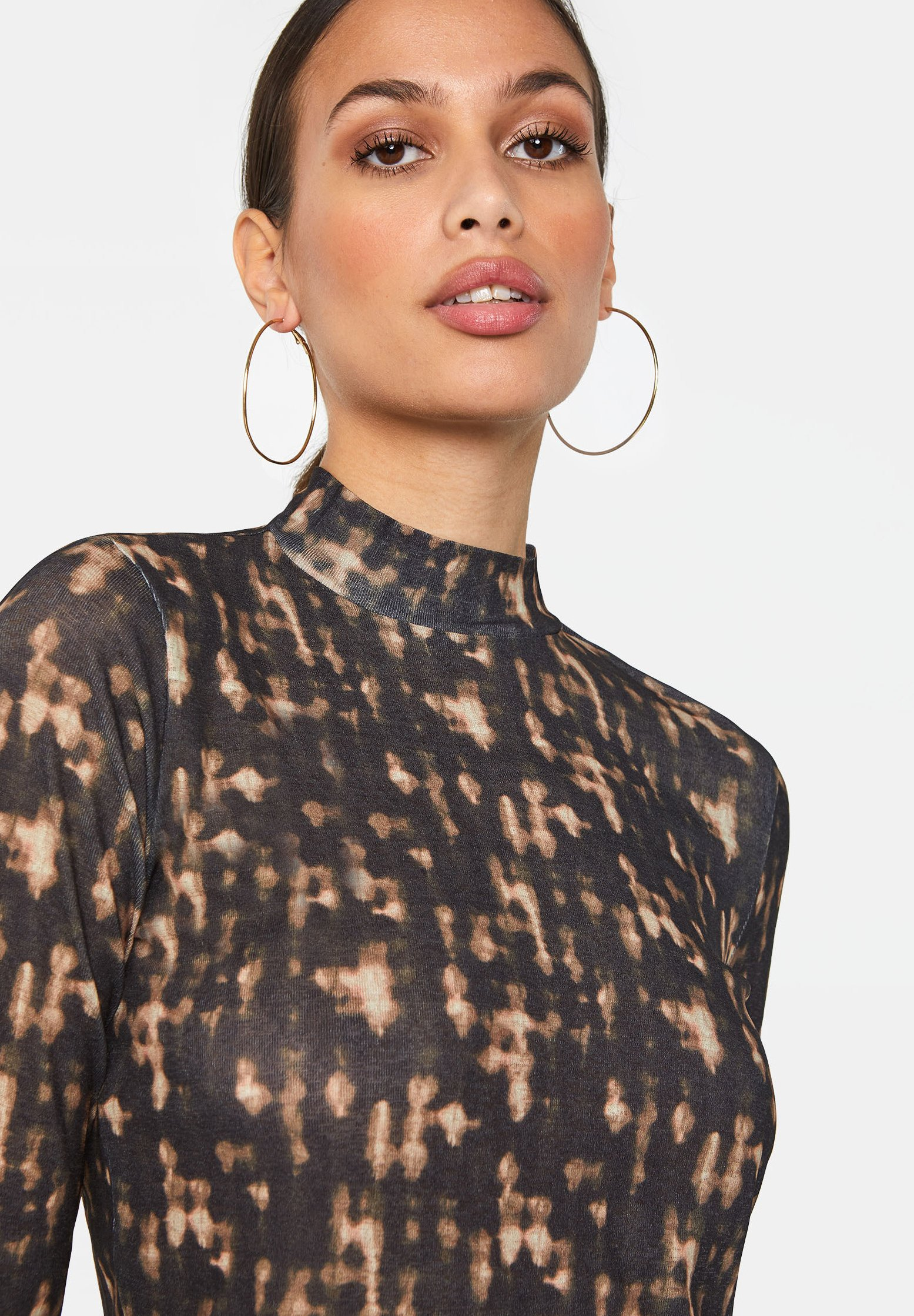 We Fashion Long Sleeved Top - Brown