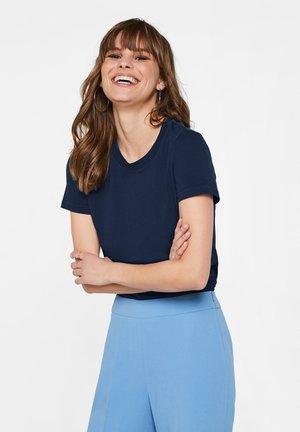 WE FASHION DAMEN-T-SHIRT AUS BIO-BAUMWOLLE - T-shirts basic - dark blue