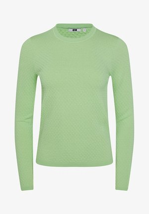 MIT STRUKTURMUSTER - Pullover - bright green