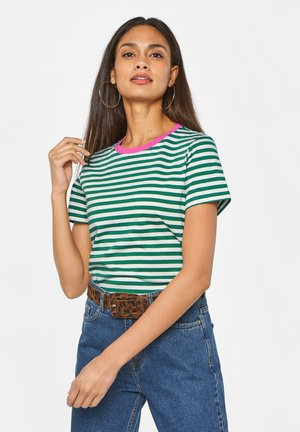WE FASHION DAMES GESTREEPT T-SHIRT - Print T-shirt - green