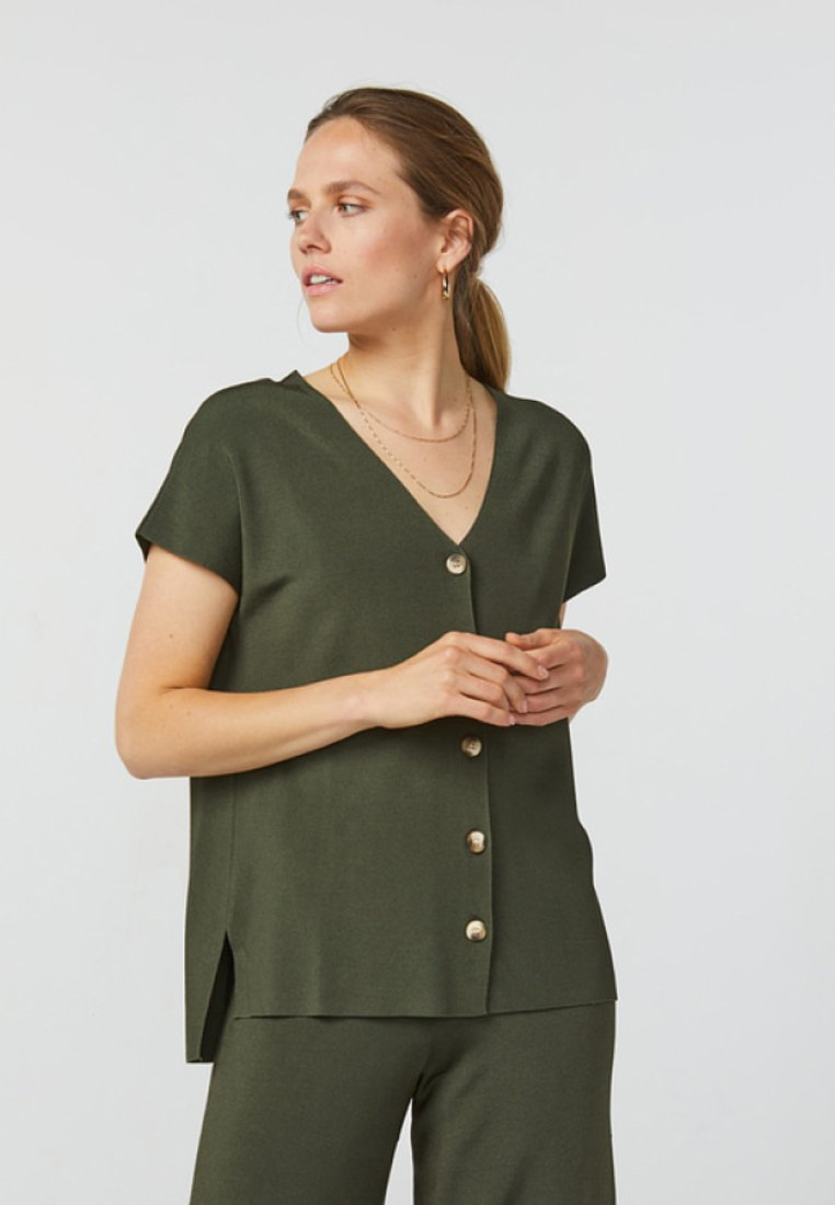WE Fashion - LOOSE FIT - Blouse - army green
