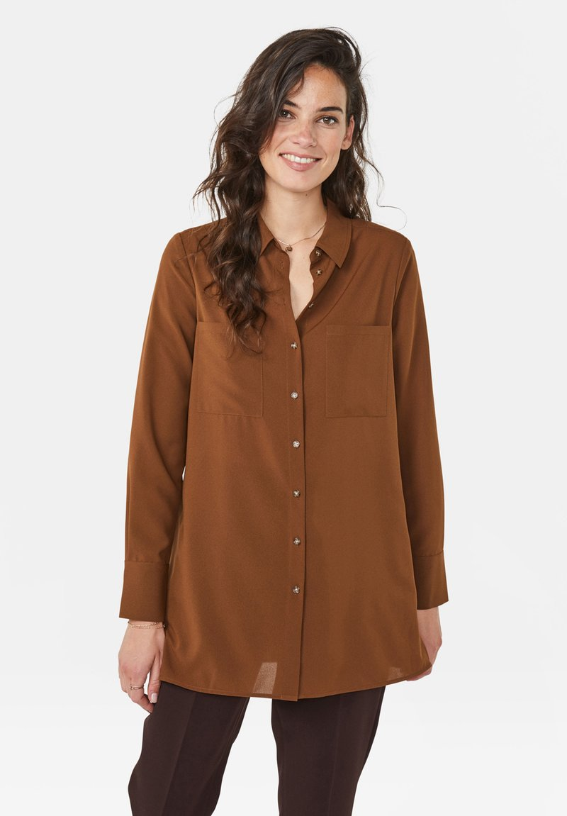 WE Fashion - Button-down blouse - brown