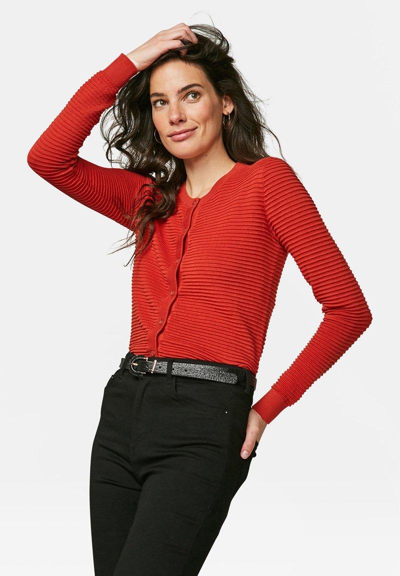 WE Fashion - Cardigan - burgundy red