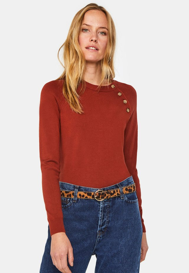 Jersey de punto - rust brown