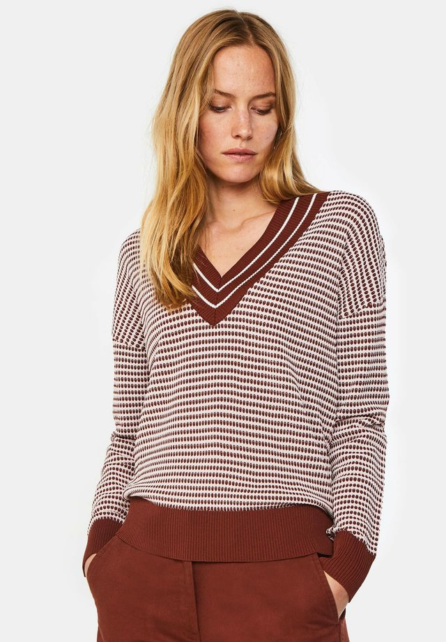 Jersey de punto - burgundy red