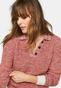 WE Fashion - WE FASHION DAMEN-POLOPULLOVER - Pullover - red - 3