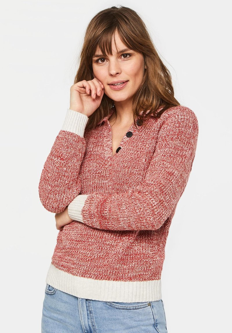 WE Fashion - WE FASHION DAMEN-POLOPULLOVER - Pullover - red