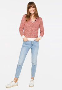 WE Fashion - WE FASHION DAMEN-POLOPULLOVER - Pullover - red - 1