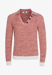 WE Fashion - WE FASHION DAMEN-POLOPULLOVER - Pullover - red - 4
