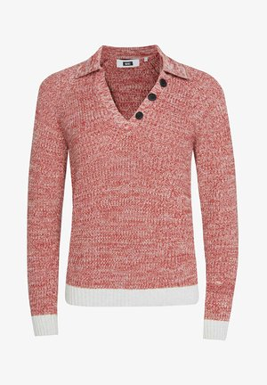 WE FASHION DAMEN-POLOPULLOVER - Pullover - red