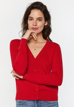 Cardigan - bright red
