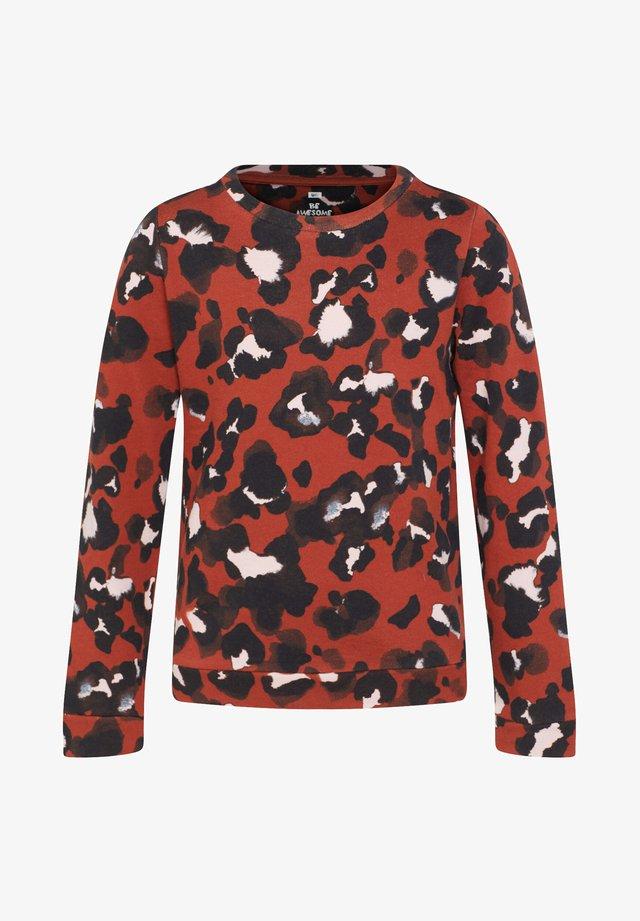 MIT LEOPARDENMUSTER - Sweater - brown