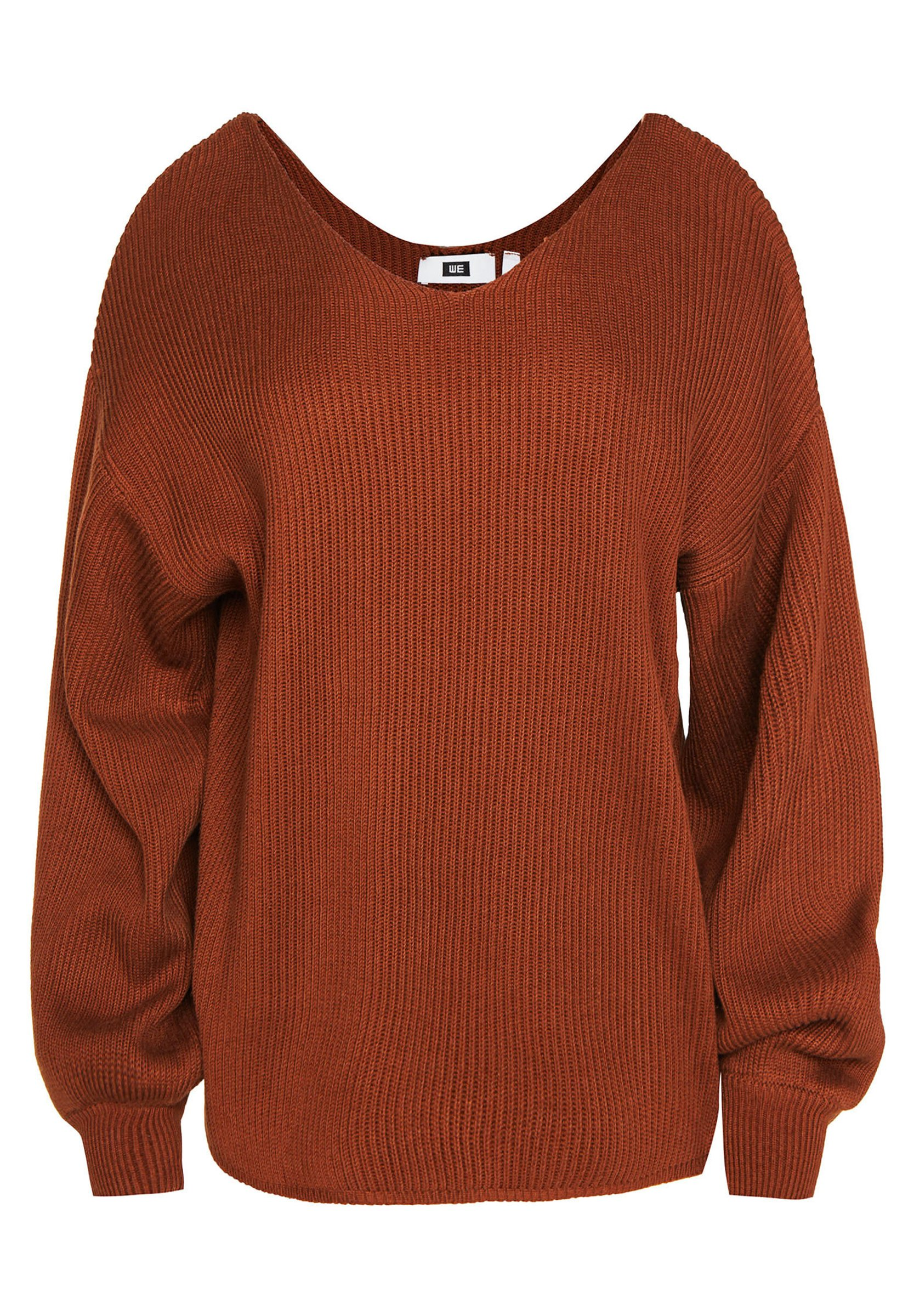 We Fashion Damenpullover Mit Ballonärmeln - Maglione Rust Brown 5T5mxGt