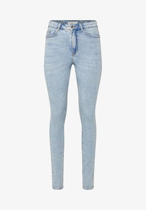 WE FASHION DAMEN-SKINNY-JEANS MIT HOHER TAILLE - Jeans Skinny - blue