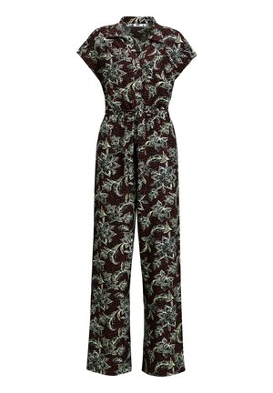 Jumpsuit - burgundy red
