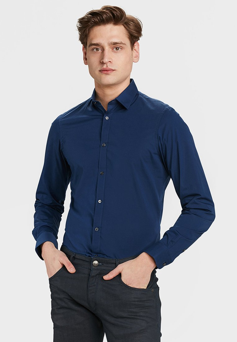 WE Fashion - SLIM FIT STRETCH - Shirt - bright blue