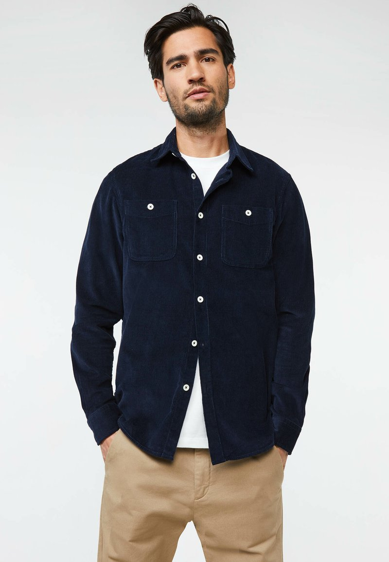WE Fashion - Vapaa-ajan kauluspaita - dark blue