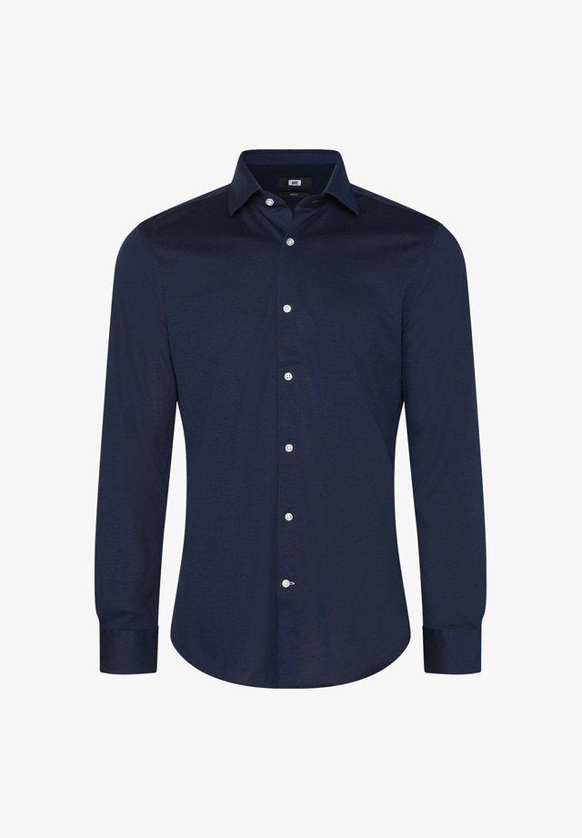 WE FASHION HERREN-SLIM-FIT-HEMD AUS BAUMWOLLPIQUÉ - Koszula - dark blue