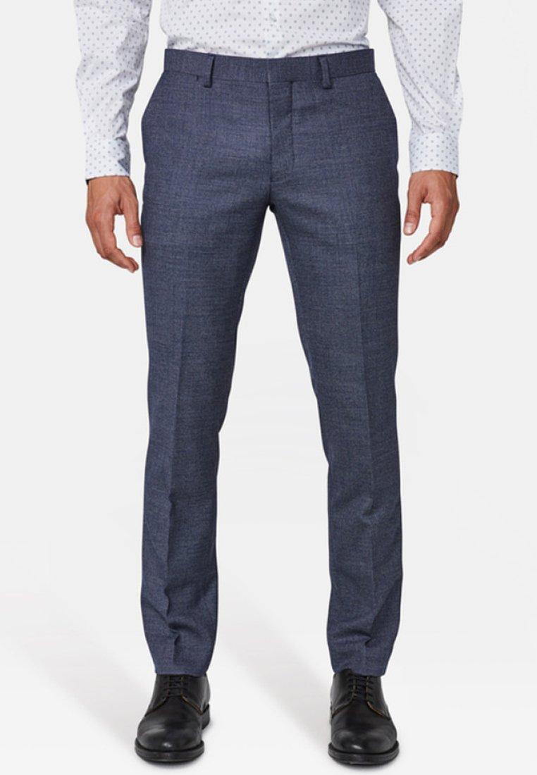 WE Fashion - SLIM-FIT - Suit trousers - blue