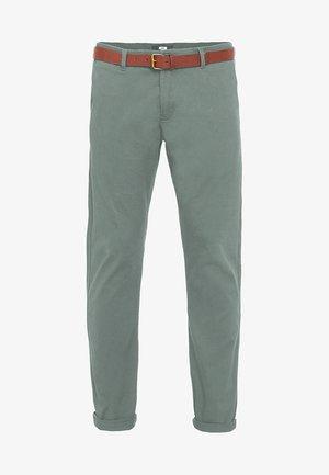 Pantalones chinos - moss green