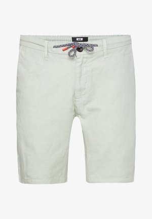 WE FASHION HEREN REGULAR FIT CHINOSHORT VAN LINNENMIX - Shorts - mint green