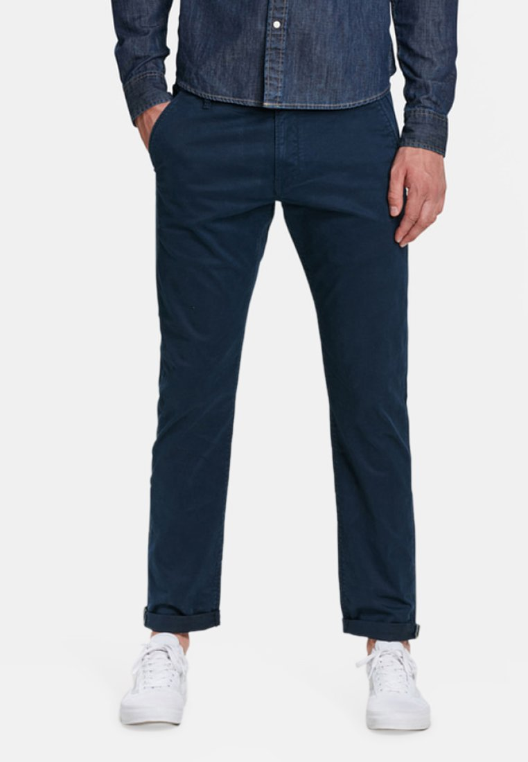 WE Fashion - MIT TAPERED LEG - Chinos - navy